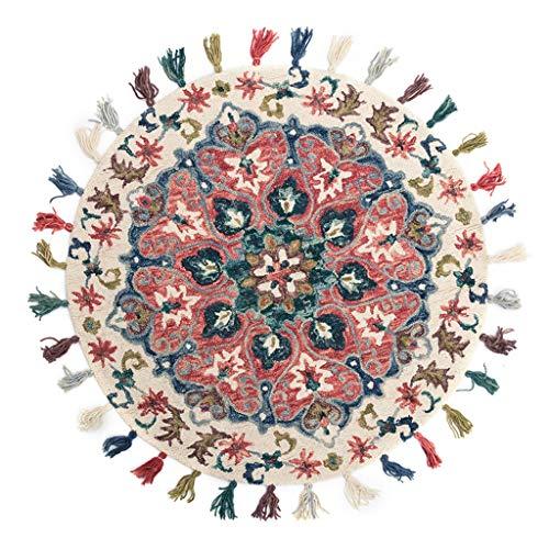 Fantastic Deal! Tassel Floral Design Rug Washable Indoor Floor Runner Rug for Porch Kitchen Bathroom...
