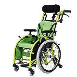A&DW Medizinischer Fahrender Rollstuhl der Kinder, Leichter faltender Rollstuhl-Auto-Kleiner beweglicher behinderter Laufkatzen-Kindermanueller Rollstuhl der Kinder -