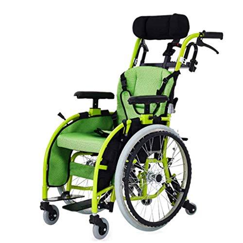 A&DW Medizinischer Fahrender Rollstuhl der Kinder, Leichter faltender Rollstuhl-Auto-Kleiner beweglicher behinderter Laufkatzen-Kindermanueller Rollstuhl der Kinder