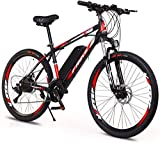 Bicicleta eléctrica Bicicleta eléctrica por la mon 26 '' Rueda de bicicleta eléctrica de aleación de aluminio 36V 10AH extraíble batería de litio de montaña bicicleta de ciclo, velocidad 27 E-bici for