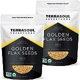 Terrasoul Superfoods Organic Golden Flax Seeds, 4 Lbs (2 Pack) - Fiber   Protein   Omega Fats…