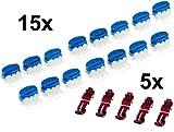 15 Cable Conector + 5 Terminales de conexión para Husqvarna Automower (Original v. 3M)