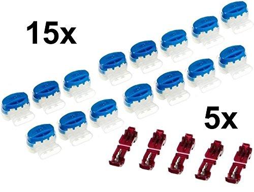genisys 15 Kabel Verbinder + 5 Anschlussklemmen für Husqvarna Automower (Original v. 3M)