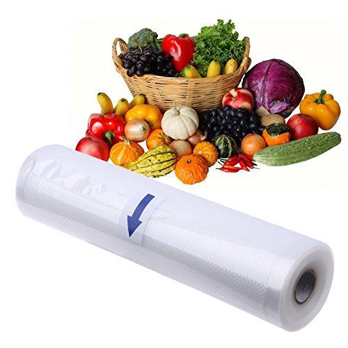 SISHUINIANHUA 1 Rollo de Alimentos Sellador al vacío Bolsa de Almacenamiento Seguridad Alimentador de Alimentos Bolsa de vacío para Almacenamiento de Cocina Alimentos Grano Fresco Bolsa,20 * 500cm