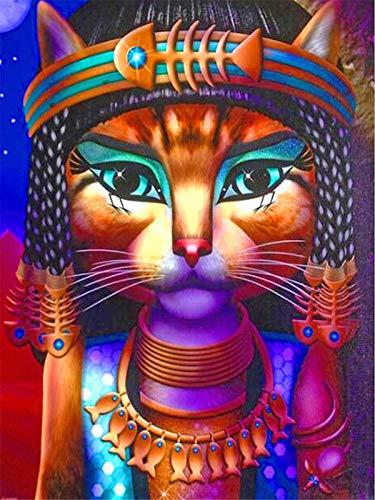Puzzle 1000 Piezas Gato faraón Puzzle de Alta Dificultad Grande Educativo El Alivio del Estrés Juguete Relajante Juego para Adultos Niños 50x75cm