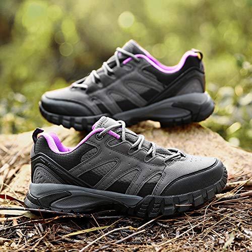 Zapatillas Trekking Hombres Calzado Mujer Senderismo Montaña Deportivas Trail Running Deporte Zapatos Antideslizante Ligeras Respirables Unisex Viola 38