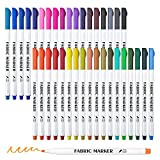 Best Fabric Markers - Fabric Markers, Lelix 36 Colors Permanent Fabric Pens Review