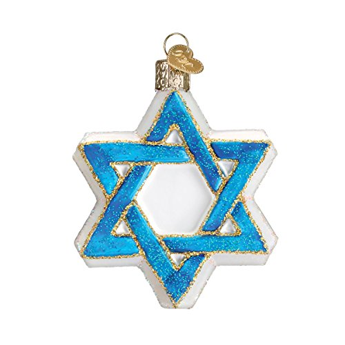 Old World Christmas Hanukkah Glass Blown Ornaments for Christmas Tree Star of David