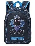 Fortnite Mochilas Escolares Juveniles, Mochila Escolar Estampado Raven Para Niños, Mochila Negra Gran Capacidad Colegio Viaje Deporte, Regalos Para Niños Niñas Adolescentes (Azul Raven)