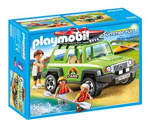Playmobil 6889 Playset Campamento de Verano con Coche Off-Road SUV, Multicolor