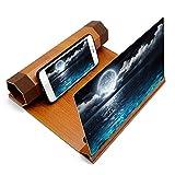 Amplificador de pantalla de teléfono, 12 pulgadas, multifuncional, ligero, de madera, de alta definición, 4-6 veces, pantalla de teléfono, lupa, protección ocular, pantalla, soporte para teléfono int