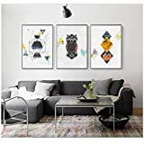 DLFALG Line Art Pinturas decorativas Wall Art Print Picture Canvas Painting Poster para sala de estar- 40x60cmx3 Sin marco