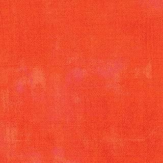 Moda Basic Grey Grunge Modern Texture Tangerine