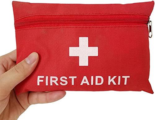 Ulmisfee Erste Hilfe Set,33 Stück Mini Notfalltasche medizinische Überlebenstasche wasserdicht...