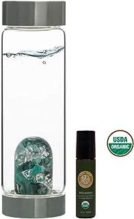 VitaJuwel Gem Water Bottle ViA - Vitality w/Free Organic Wellness Essential Oil Roll-On