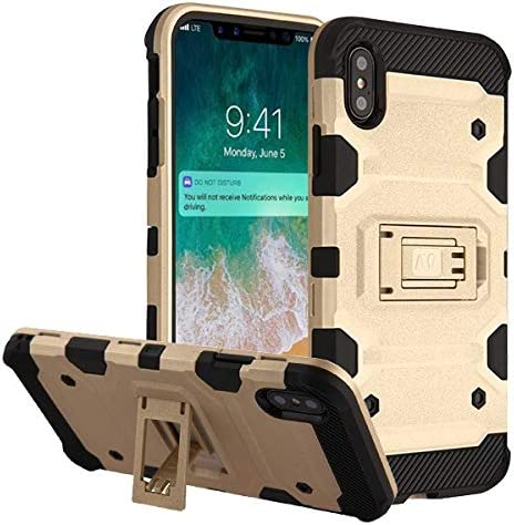 Amazon Com Mybat Apple Iphone Xs Max Gold Black Storm Tank Hybrid Protector Cover Military Grade Certified Cell Phones Accessories Iphone xs tanks wallpaper