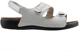 Jump 21890 Günlük Büyük Numara Bayan Sandalet Terlik Beyaz