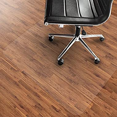 Office Marshal PVC Chair Mat for Hard Floors - 36  x 48  | Multiple Sizes Available | Clear, Multi-purpose Floor Protector