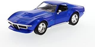 Jada 1969 Chevy Corvette Stingray ZL-1, Blue Toys Bigtime Muscle 96887 - 1/24 scale Diecast Model Toy Car, but NO BOX