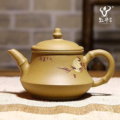 L.L.QYL Tetera Tetera Tea Cup segmento 300 Ml Xiaoxiang Pintado a Mano de la Tetera de Barro en los Meses de Barro (Color : Purple mud)