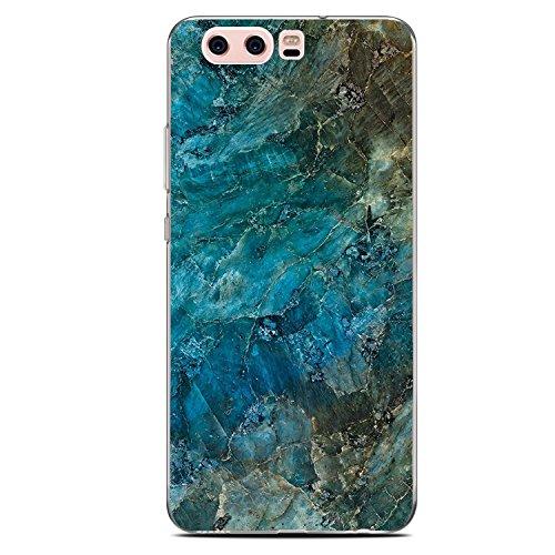 Vanki Huawei P10 hülle Tasten Marmor Schutzhülle Clear Case Cover Bumper Anti-Scratch TPU Silikon Durchsichtig Handyhülle für Huawei P10 (Huawei P10, B)