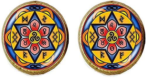 Nudo celta Triple Espiral Mandala Pendientes Cristal Joyería Moda Joyería Regalos