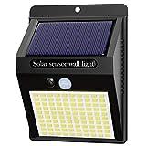 Hepside Luz Solar Exterior,【1 Pack / 3 Modos】Luces LED Solares para Exteriores, 800 Lumens Focos LED Exterior Solares, Luces de Seguridad Inalámbricas a Prueba de Agua para el garaje del Jardín Camino
