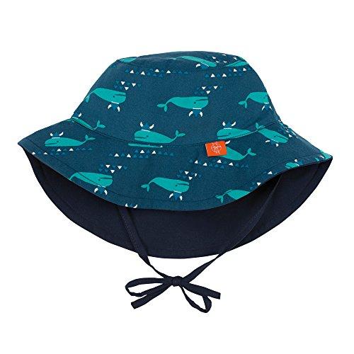 Lässig 1433005410 Baby Sun Protection Bucket Hat Sonnenhut, Blue Whale, Size: New Born 0-6 Monate, mehrfarbig