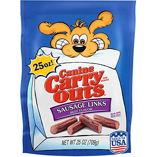Canine Carry Outs Sausage Links Beef Flavor Dog Snacks, 25 Oz
