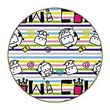 Posavasos de 6 piezas de rayas coloridas con leche de vaca, posavasos de cuero para bebidas, juego de posavasos de estilo DIY para protección de mesa de madera, regalo para amigos
