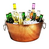 gifts for wine lovers - hammered stainless steel beverage tub
