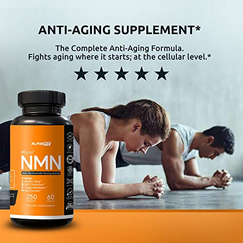 518O41BvGlL - NMN Supplements - NMN Nicotinamide Mononucleotide Supplement - NAD Supplement - NAD Booster Supplement - NMN Supplement NAD Plus Cell Regenerator - NMN - Anti Aging Supplement - 250mg - AlphaFit