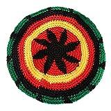 ハット ノベルティクリエイティブレディースメンズ編み込みハット冬暖かいジャマイカだらしないビーニー・フェスティバルキャップユニセックス秋のニットレゲエヒップホップ帽子 LKYJP (Color : 緑)