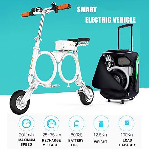 Airwheel Elektroroller E3 Mini Elektrofalz Elektroroller Erwachsener Lithium Tragbarer Rucksack Elektrofahrzeug Roller mit Tragetasche