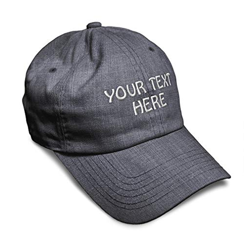 Soft Baseball Cap Custom Personalized Text Cotton Dad Hats for Men & Women Buckle Closure Dark Denim