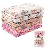 3 Pack Cat and Dog Blanket - MIWOPET Soft & Warm Fleece Flannel Pet Blanket, Great Pet Throw for Puppy, Small Dog, Medium Dog & Large Dog (Small)
