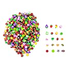 PLAYOLY 500 Miniature Novelty Fruit & Animal Erasers for Kid Party Favors Art Supplies Math Counters