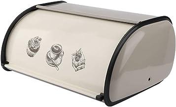 FZYE Boîtes à Pain Boîte de Rangement pour Cuisine Vintage Rollup Cover Boîte de Rangement pour Pain en métal Idéal pour L...