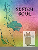 Sketchbook: Best blank white pages with premium art paint multicolor cover for painting, drawing, writing, sketching and doodling, wide papers 8.5 x ... boys, girls, fathers, mothers, children
