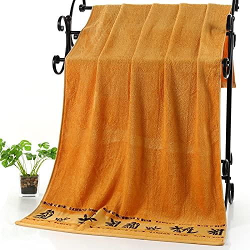 YYZ Juego de Toallas de baño (2 Paquetes), Toalla de baño de Fibra de bambú, patrón de bambú, Toalla de baño Absorbente y súper Suave en Calidad de Hotel, Adecuada para el Uso Diario