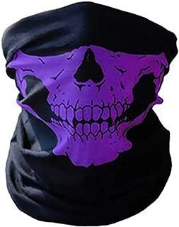 Skull Skeleton Face Mask Ghost Neck Gaiter Headband Raves Halloween Motorcycle Face Mask Headwear