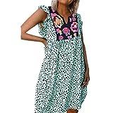 Mr.BaoLong&Miss.GO Summer Explosion Models Camisa Estampada Leopardo Vestido Mujer