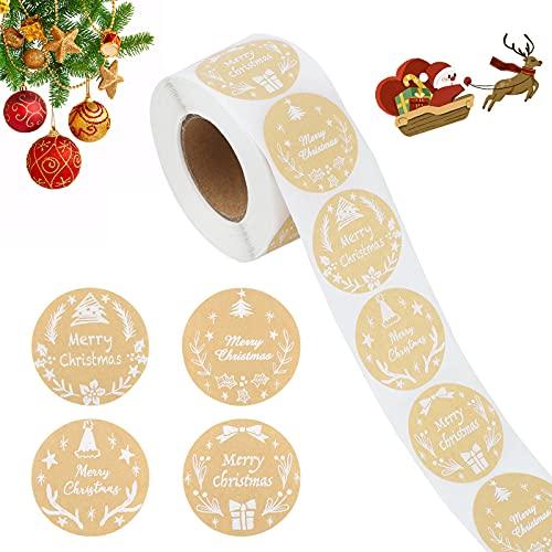 Etiquetas Navidad Regalo Adhesivas Marca TSLBW