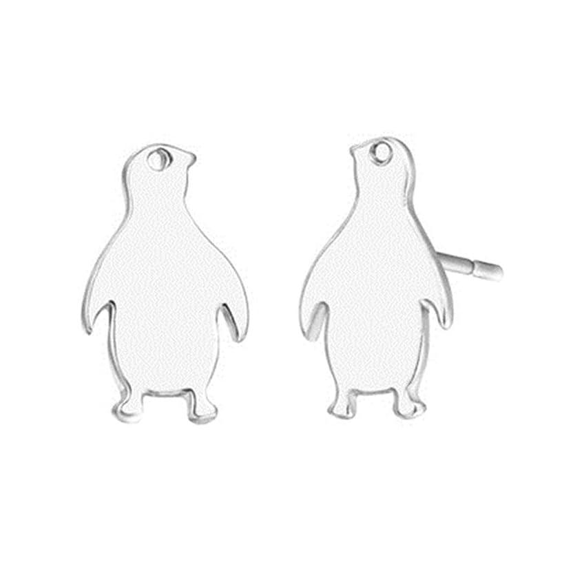 パイント航空交換PINKING ピアス ペンギン 文芸 デザイン シンプル 気質 おしゃれ ファッシュン 魅力 美しい 文芸 美人 プレゼント 銀色