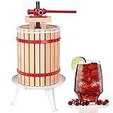 wolketon 18L Torchio per vinacce Pressa per Frutta per Pressatura di Frutta UVA Mele per Succhi Vino Sidro Mosto Tritafrutta incl. Panno Stampa