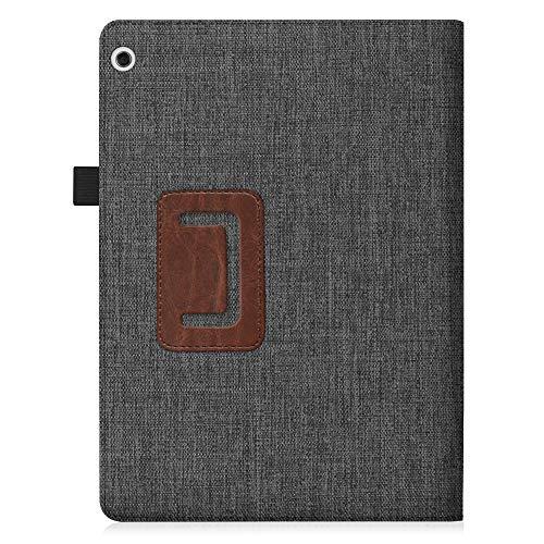 Fintie Hülle Case für Huawei Mediapad T3 10 - Ultra Schlank Folio Stoff Schutzhülle Case mit Standfunktion für Huawei MediaPad T3 (9,6 Zoll) 24,3 cm Tablet-PC, Denim dunkelgrau