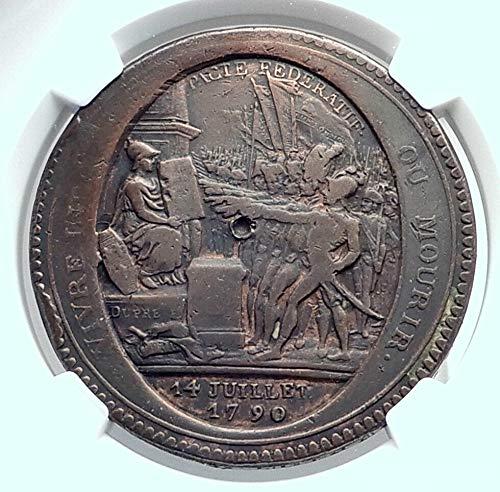 1792 FR 1792 FRANCE French Revolution BASTILLE Day Foundi coin Good NGC