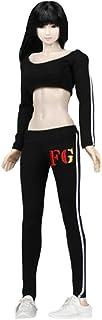 Phicen 1/6 Female Sportswear Suit for Large Medium Bust Phicen Hottoy Female Body (Black)