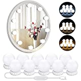 Hollywood Style LED Vanity Mirror Lights with 10 Dimmable Bulbs 3 Color Modes, Makeup Lights Stick On for Vanity Table Set & Bathroom Mirror, USB Power Cord (Mirror and Adapter not Included)