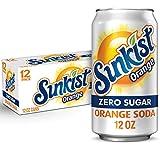 Diet Sunkist Orange Soda, 12 fl oz cans, 12 count